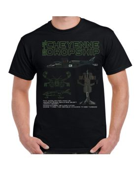 Aliens Cheyenne Dropship Color Blueprints Adult T-Shirt