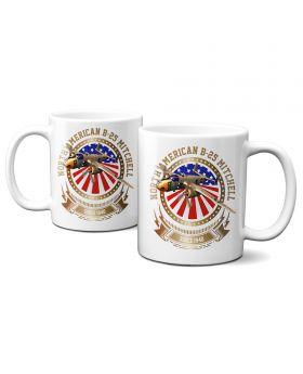 B-25 Mitchell Stars and Stripes 11oz Mug