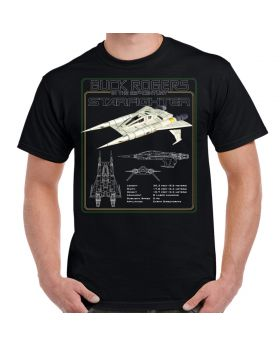 Buck Rogers 25th Century Starfighter Schematic Shirt