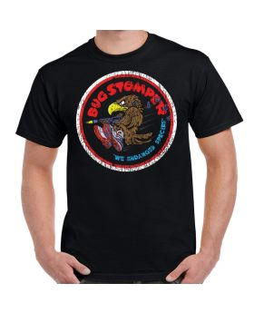 Aliens Bug Stomper We Endanger Species Black Adult T-Shirt