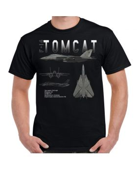 F-14 Tomcat Schematic Design T-Shirt