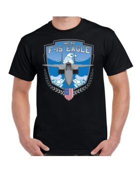F-15 Strike Eagle In Flight Custom Men's Black T-Shirt
