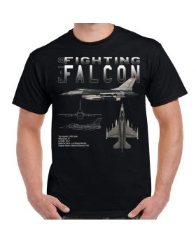 F-16 Fighting Falcon Schematic Custom Men's T-Shirt