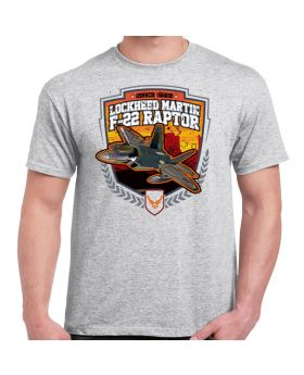 F-22 Lockheed Martin Raptor Athletic Heather Men's T-Shirt