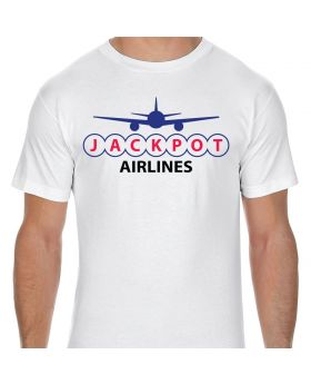Jackpot Airlines Logo Adult T-Shirt