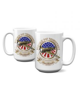 P-47 Thunderbolt Stars and Stripes 15oz Mug