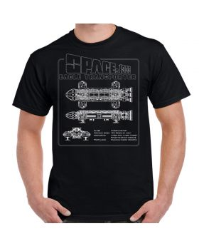 Space 1999 Eagle White Schematic Adult T-Shirt