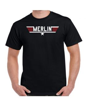 Top Gun Merlin Logo T-Shirt