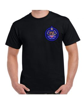 USCM Colonial Marines Patch Chest Logo Black SHirt