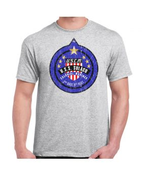 USCM Colonial Marines Patch Distressed Athletic Grey Adult T-Shirt