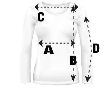 Juniors Long Sleeve Shirt Size Guide