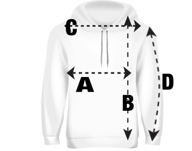 Mens Pullover Hoodie Size Guide